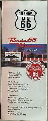 Route 66 Museum Clinton Oklahoma brochure and city map 1990's b