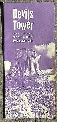 1963 Devils Tower National Monument Wyoming Brochure b