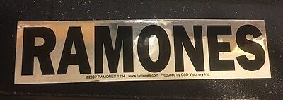 RAMONES black logo on chrome STICKER decal **FREE SHIPPING** hey ho let's go