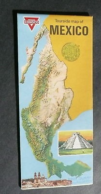 1970 Mexico road map Conoco oil touraide