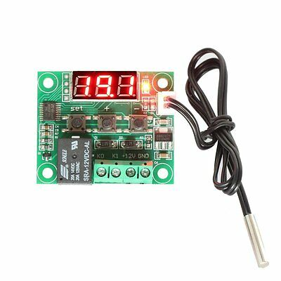 12V DC Digital Cooling/Heating Thermostat Temp Control Relay With Sensor Probe