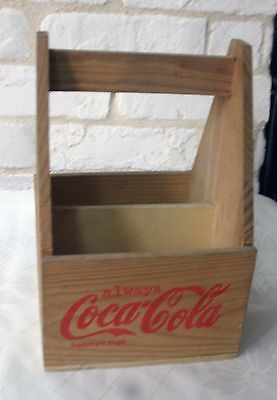 Beautiful Vintage Wooden Coca Cola 4 Bottles Carrier Caddies Nr