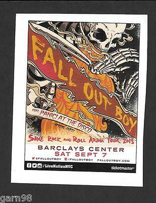 Fall Out Boy Panic at the Disco  Concert Handbill Mini Poster 2013