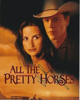 PENELOPE CRUZ & MATT DAMON signed autographed ALL THE PRETTY HORSES photo