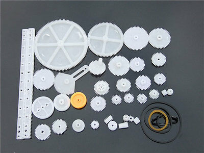 34 kinds of plastic gear package motor gear gearbox robot model accessories DIY