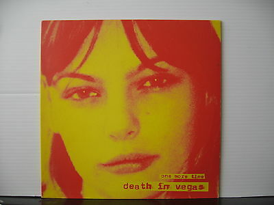 "DEATH IN VEGAS One More Time COLOURED 10"" ETCHED VINYL Free UK Post"