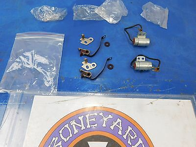New Pair Of Lucas Style Ignition Points & Condensers 1967 & Earlier Triumph Bsa
