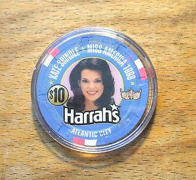 $10. Harrah's Casino Chip - Miss America - Atlantic City -Limited Edition - 1998