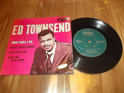 """Ed Townsend-What shall I do 7"""" EP VERY RARE UK 1958 CAPITOL R&B"""