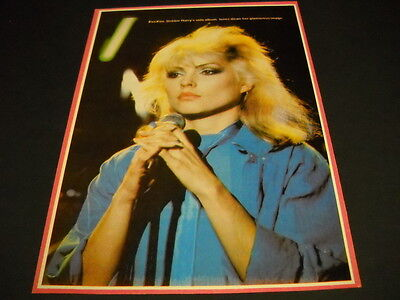 BLONDIE Debbie Harry is Koo Koo VINTAGE full page magazine FRAMEABLE IMAGE
