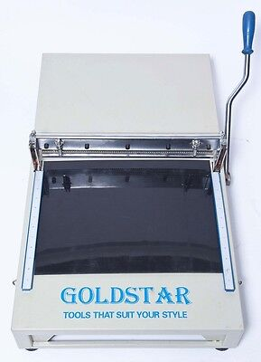 """Swatch Cutter Cloth Leather Vinyl Sample Cutter 16"""", ALL STEEL PINKING KNIFE USA"""