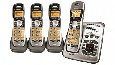 UNIDEN Digital Technology Cordless Phone System With 3 Extra Handsets