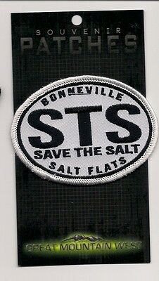 Souvenir Patch - Bonneville Salt Flats Utah - Save The Salt