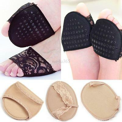 Women High Heels Shoe Insole Black Sock Toeless Pad Foot Care Pain Relief Hot