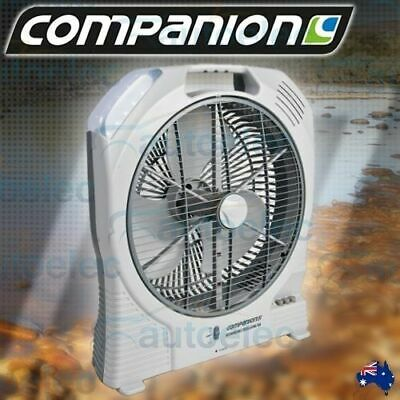 Companion 12V Volt Rechargeable Oscillating Portable Fan Caravan Camping Comp389