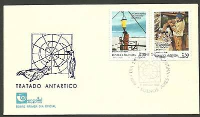 ARGENTINA 1987 25th ANNIVERSARY ANTARCTIC TREATY 2v FDC