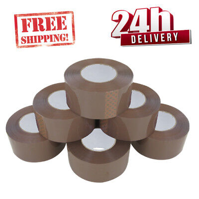Extra Strong Low Noise Big Tape Parcel Packing Tape 48Mm X150M Brown /buff Large