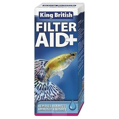 King British Filter Aid+ plus 50ml water treatment ammonia nitirite fish *B2GOF*
