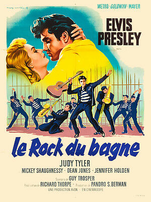 Elvis Presley  in * Jailhouse Rock * French Movie Poster Release Circa 1957