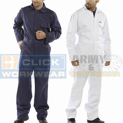Cotton Drill Click Mens Boilersuit Coverall Overalls Workwear Painters Decorator