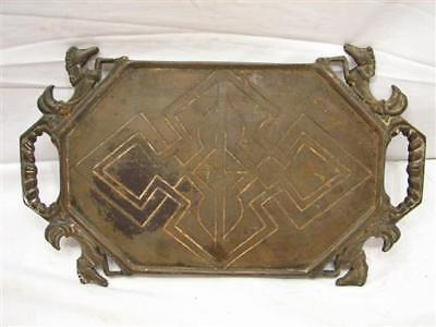Antique Architectural Cast Iron Figural Tray Art Deco Horse Equestrian Stand • CAD $153.08