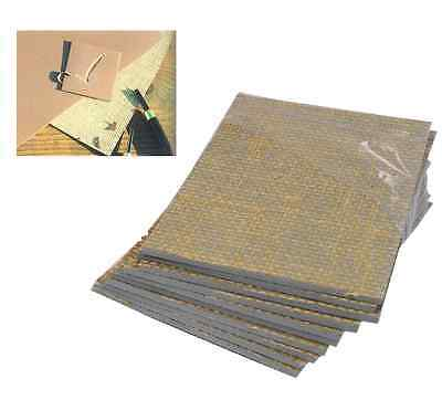4 X SOFT LINO BLOCK PRINTING BOARD HESSIAN BACKED TILE 75mm X 75mm 3.2mm THICK