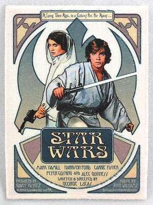 Star Wars Luke & Leia Poster Art Embroidered Patch