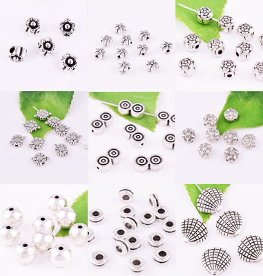Tibetan Silver Spacer Charm Bead Jewelry Diy Finding Various Size Wholesale