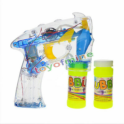 Flashing Bubble Gun - Light Up Blower Blaster With LED Lights Great Party Favor