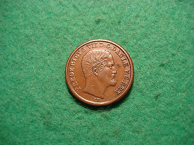 1853 1 Skilling Denmark ,rigsbank ,high Collectible Grade C204