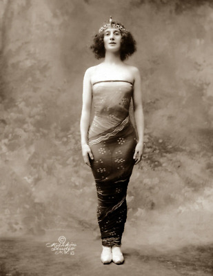 "Early 1900's Anna Pavlova in Oriental Fantasy Photograph 8.5"" x 11"" Reprint"