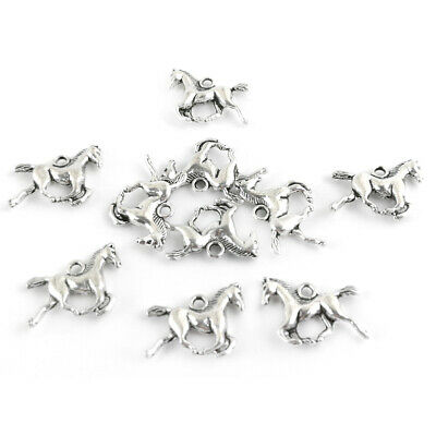 Horse Charm/Pendant Tibetan Antique Silver 19mm  10 Charms Accessory Jewellery