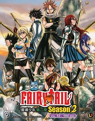 Fairy Tail Series 2+3 Part 2 | Eps. 053-104 | English Subs | 3 DVDs (M2330)-LU