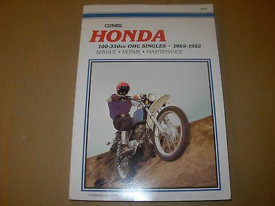 1962 - 1982 Honda OHC Singles Motorcycle Shop Service Manual - Clymer