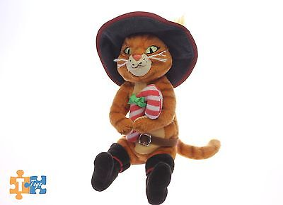 "PUSS IN BOOTS 8"" Dreamworks TY Holiday Candy Cane Soft Plush Figure"