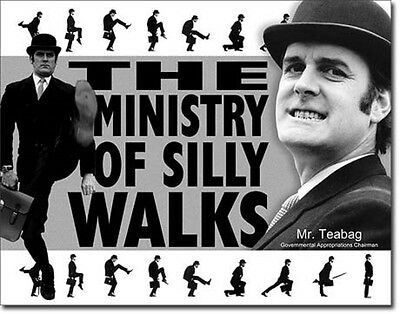 "12.5"" X 16""  - Monty Python - Ministry of Silly Walks  - Tin Sign Reproduction"