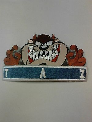 "LOONEY TUNES Tasmanian Devil ""TAZ"" Iron-On Patch 6 1/2"" X 4"""