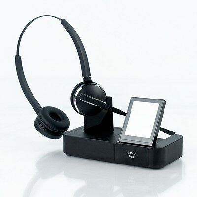Jabra Pro 9460 Duo Wireless Over the Head Headset and Base
