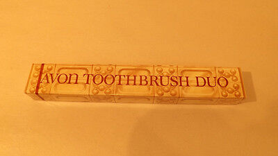 Vtg NOS AVON Toothbrush Duo Factory Sealed Set
