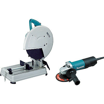 Makita 2414NBX2 14 In Portable Cut-Off Saw with Grinder 1-Inch Arbor