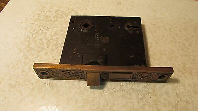 Antique Cast Iron Eastlake Mortise Lock  No. 25