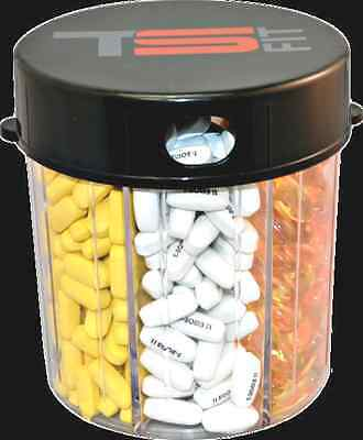 TSFIT Monster Pill Dispenser TS FIT - 7 Compartments for the Traveling Athlete