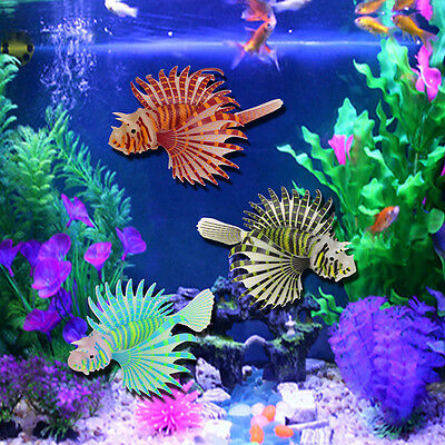 Silicone Simulation Luminous Lionfish Aquarium Supplies Fish Tank Decoration Hot