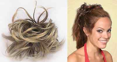 "Loose Wave Hair Scrunchie Ponytail Holder Hairpiece Extensions 4.5"" Wavy Sophie"