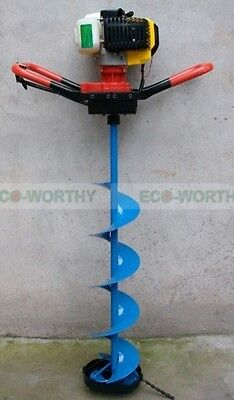 """ECO 2.2 HP Gas Powered Post Hole Digger W/ 6/8/10"""" Drill Bit Only  Use for Ice"""