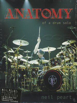 Neil Peart Anatomy Of A Drum Solo Tuition 2 DVD Set Learn How To Play
