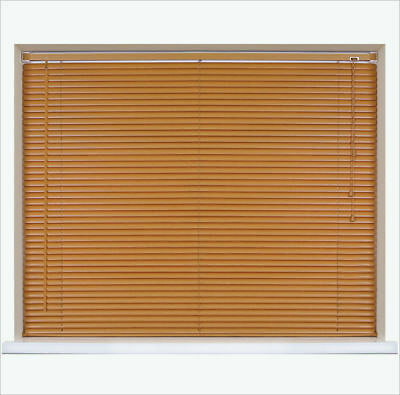 Sale/Stock Clearance - Any Size £6.99! - Pvc Venetian Blinds - Teak Wood Effect