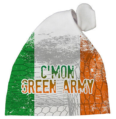 "Republic Ireland Football Hat ""C'mon Green Army"" Baby Subli print Hat Team"