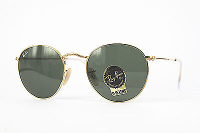 Ray Ban Sonnenbrille/Sunglasses Round Metal RB3447 001 47[]21 140 3N + Etui  # *