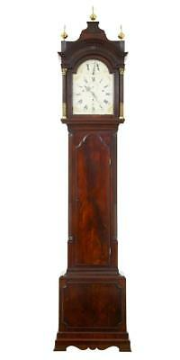 Superb Quality 18Th Century Flame Mahogany Musical Longcase Clock By P Rimbault